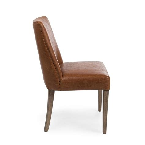 sedie vintage tebe vintage sedia vintage in legno e similpelle marrone
