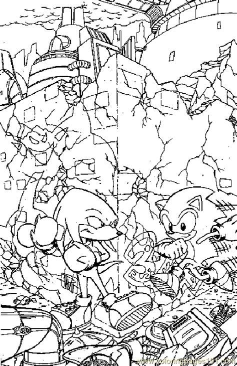 sonic coloring book all your favorite sonic characters books coloring pages sonic the hedgehog coloring page 09
