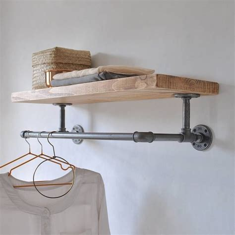 wall mounted clothes rails storage ideas