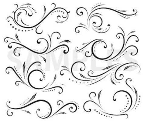 design pattern helper scrolls and swirls exercise to help develop linework