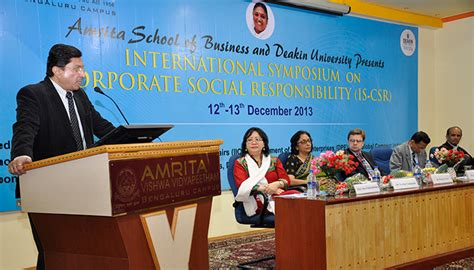 Deakin Mba International by Amrita School Of Business And Deakin Organizes