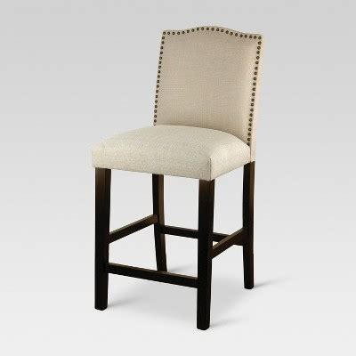 Camelot Nailhead Counter Stool by Camelot Nailhead Trim 25 Quot Counter Stool Hardwood Oyster