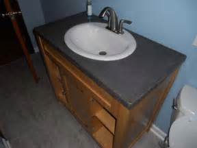 Bathroom Vanity Single Sink by Concrete Countertop Together We Wood
