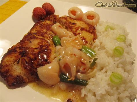 asian fish recipe perch with lychee sauce chef