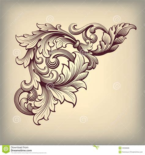baroque pattern frame baroque design vector vintage baroque scroll design