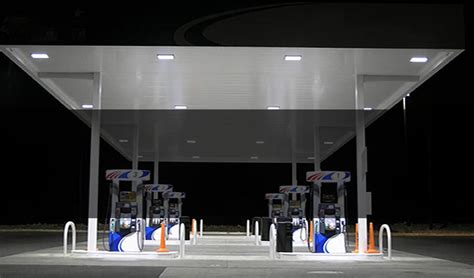 station with lights led gas station canopy lights gas station led lighting