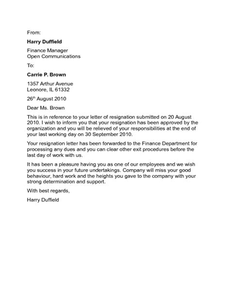 resignation letter samples fillable printable