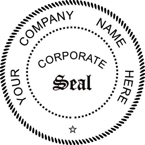 Three Initials Fancy Round Monogram St Www Getsts Com Company Seal Embosser Andaname Cards Corporate Seal Template