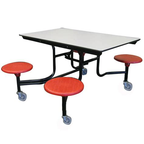 Cafeteria Tables With Stools by Amtab Mobile Stool Cafeteria Table 4 Stools 4 L