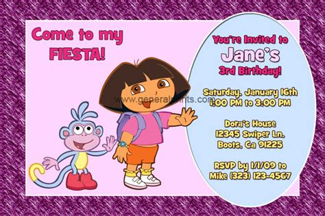 dora map invitation