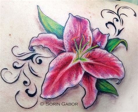 lily swirl tattoo designs stargazer by sorin gabor tattoonow