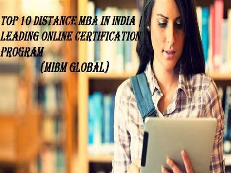 Top 10 Distance Mba In India by Top 10 Distance Mba In India Certification Program