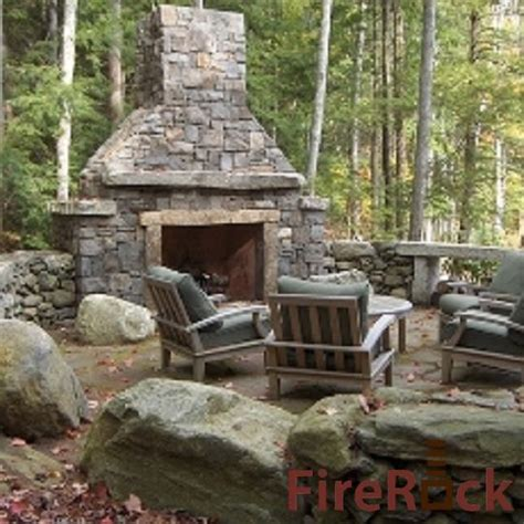 firerock outdoor fireplace kit backyard pinterest
