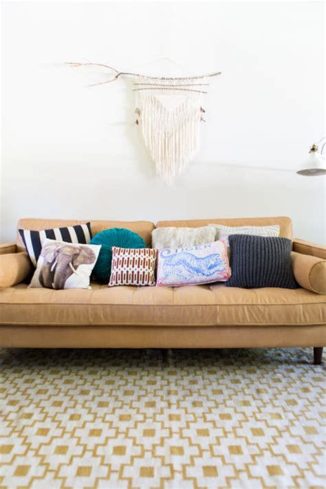 how to style your sofa using throw pillows simply grove