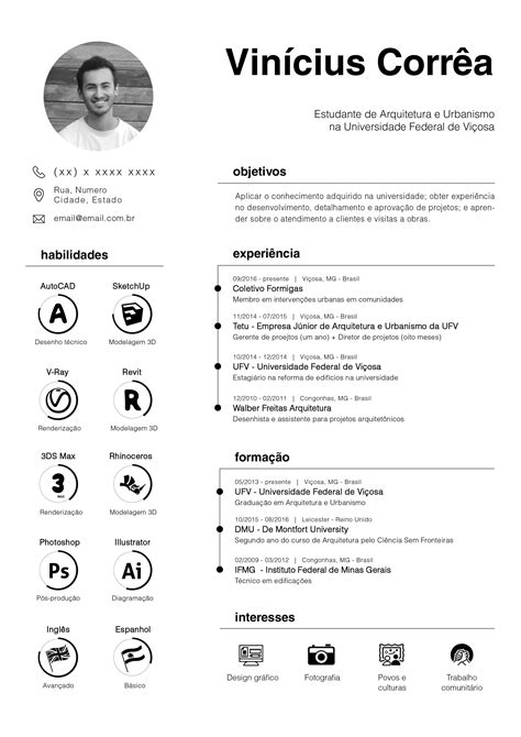 cv template for architects resume curriculum vitae architecture urbanism proyectos