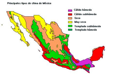 weather map usa and mexico mexico climate map mexico mappery