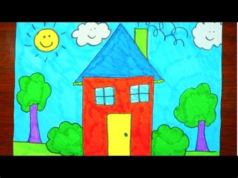 how to color a house how to draw a house coloring