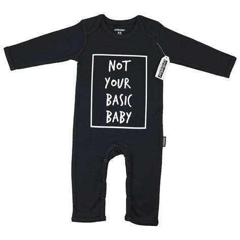 Romper Baby Not Your Basic cribstar not your basic baby romper in black daisies and