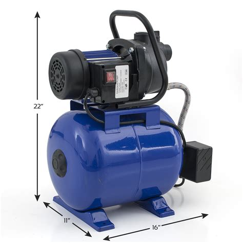 Plumbing Booster by 1200w 1 6hp Water Booster W Pressurized Tank