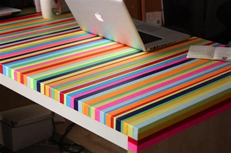 Washi Desk by Diy Rainbow Desk Washi Crafts
