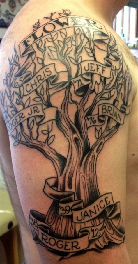 family sleeve tattoo 30 family tree tattoos family tree tattoos tattoos