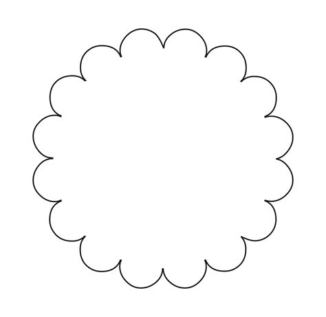 shape template circular scalloped tag template search tutorial