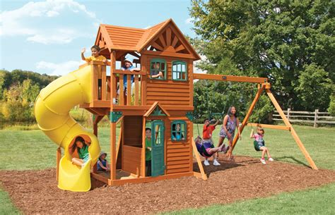 costco wooden swing sets cedar summit mountainview resort playset from costco
