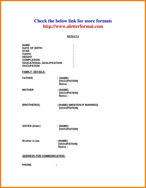 the 25 best biodata format download ideas on pinterest normal biodata format the 25 best biodata format download