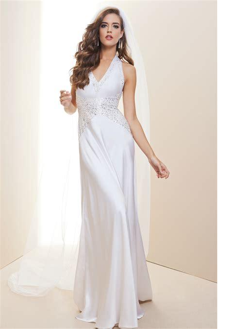 bebe wedding dress bebe embellished halter charm wedding dress rami size