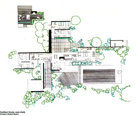 Desert House Plans by Kaufmann Desert House Richard Neutra 1946 The Home