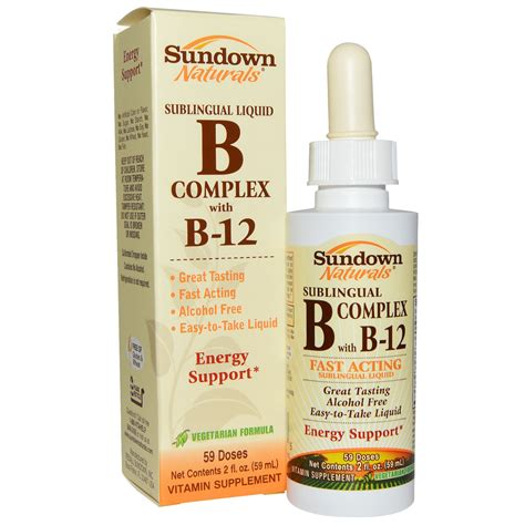 Vitamin B Complex Merk Wellness Sundown Naturals B Complex With B 12 Sublingual Liquid