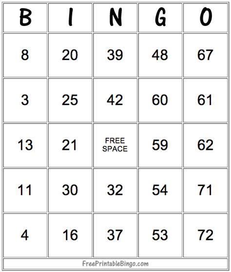 Math Bingo Card Template by 49 Printable Bingo Card Templates Bingo Card Template