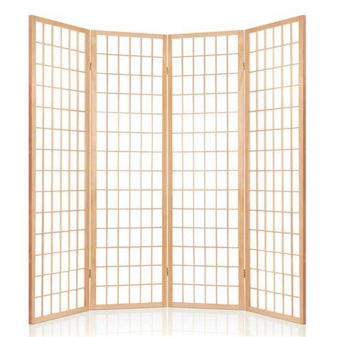 buy room divider 4 panel natural online at ikoala com au