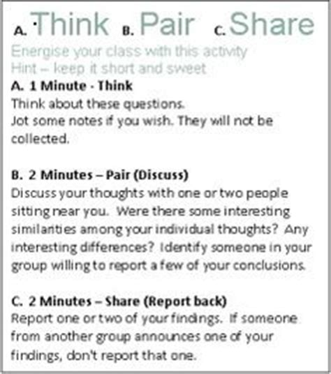 think pair template think pair business school