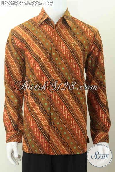 Hem Batik Cap Motif Liris hem batik motif liris kemeja batik elegan mewah buatan proses cap tulis model lengan