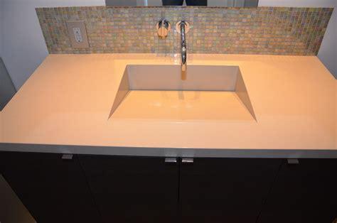 quartz integrated sinks modern vanity tops and side