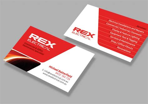 Business Cards Electrical Templates Free by Electrical Business Cards Electrical Services Design