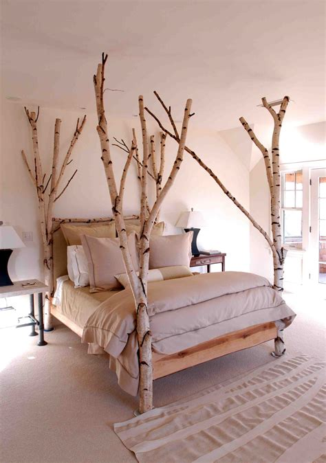 Tree Furniture by Magnificent White Bark Tree Bed Do It Yourself Ideas