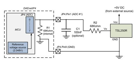 light to voltage optical sensor dae an007 connecting analog sensors to daenetip4