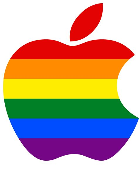 apple colors apple logo lgbt colors flickr photo