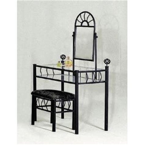 black vanity table with mirror and bench amazon com sunburst design black vanity set table mirror and bench kitchen dining