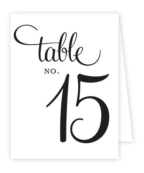 wedding table numbers template table number free template the best letter sle