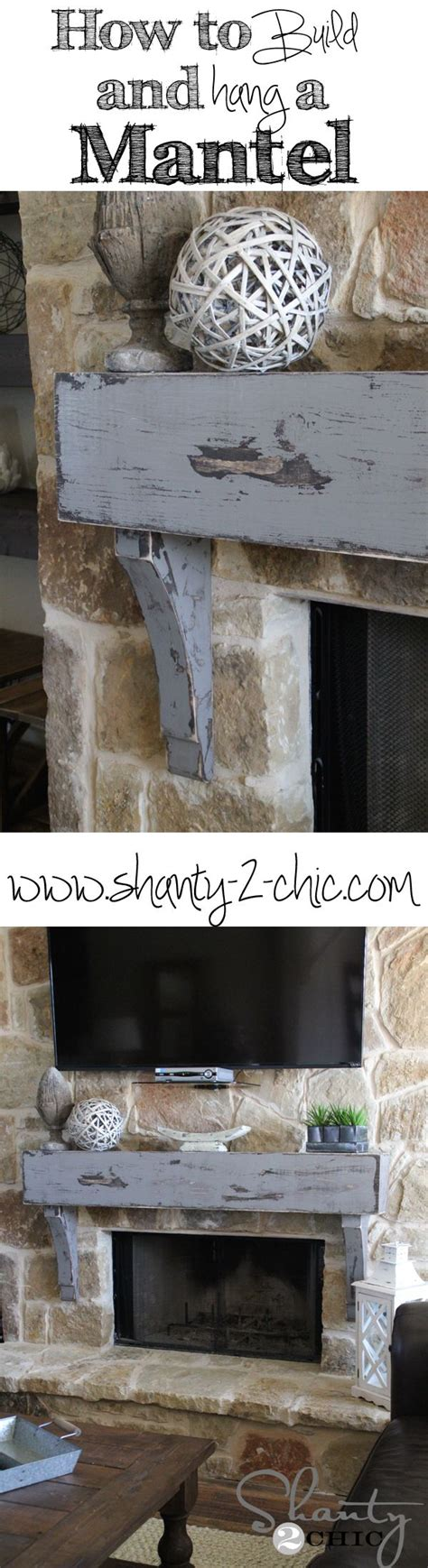 How To Attach Mantle To Brick Fireplace by How To Build A Custom Mantel And Attach It To A