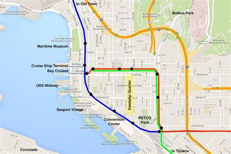 san diego trolley map the san diego trolley step by step guide