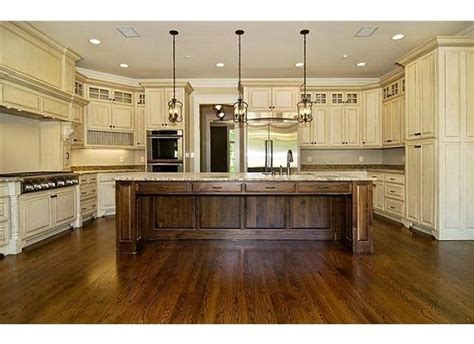 White Wood Stain Kitchen Cabinets Cabinet Island Wood Combo White Wash Stained Walnut Hello Kitchen For The Home