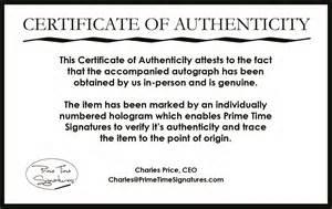 certificate of authenticity autograph template primetime signatures authenticity verification