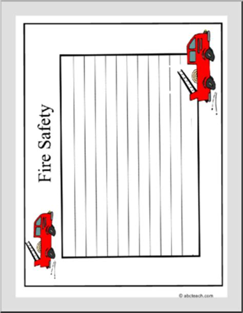 firefighter writing paper writing paper safety elementary abcteach
