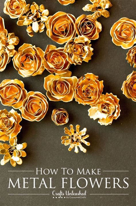 How To Make Handmade Flowers - metal flower tutorial make your own diy metal flowers