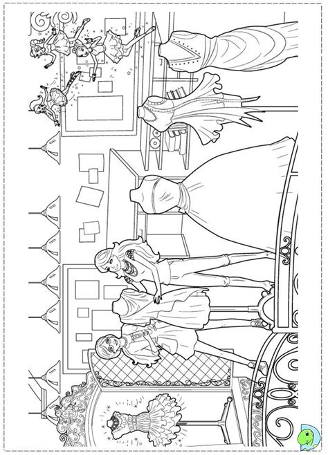 free coloring pages of barbie fashion