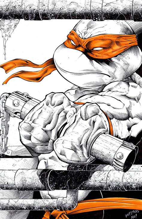 what color is michelangelo michaelangelo commission inks and colors by tonykordos on